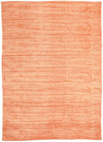 Kilim Chenille - Peach Orange Rug 210X290 Authentic  Oriental Handwoven Dark Beige/Light Pink/Orange ( India)
