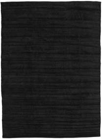 キリム シェニール - カーボンブラック色 絨毯 CVD17135