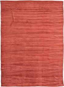 Kelim Chenille - Coppery_ Matto 210X290 Itämainen Käsinkudottu Ruoste/Tummanpunainen ( Intia)