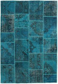 Patchwork Rug 159X232 Authentic  Modern Handknotted Dark Turquoise  /Dark Blue (Wool, Turkey)