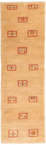 Gabbeh Persia Rug 79X271 Authentic  Modern Handknotted Hallway Runner  Light Brown/Dark Beige (Wool, Persia/Iran)