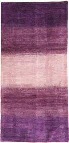 Gabbeh Persia Tæppe 128X280 Ægte Moderne Håndknyttet Tæppeløber Mørkelilla/Lyserød/Rosa (Uld, Persien/Iran)