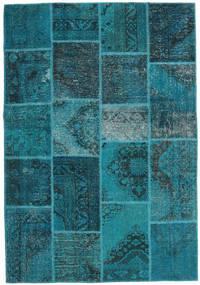 Patchwork Rug 159X231 Authentic  Modern Handknotted Dark Turquoise  /Dark Blue (Wool, Turkey)