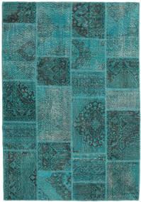 Patchwork Alfombra 159X231 Moderna Hecha A Mano Turquesa Oscuro/Azul Turquesa (Lana, Turquía)