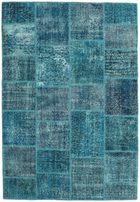 Patchwork Szőnyeg 159X231 Modern Csomózású Sötétkék/Kék (Gyapjú, Törökország)