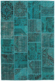 Patchwork Rug 157X231 Authentic  Modern Handknotted Dark Turquoise  /Turquoise Blue (Wool, Turkey)
