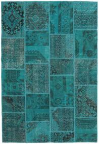 パッチワーク 絨毯 157X231 モダン 手織り ターコイズ/ターコイズブルー (ウール, トルコ)