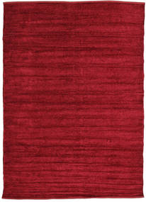 Kilim Chenille - Deep Red Rug 160X230 Authentic  Oriental Handwoven Crimson Red/Dark Red ( India)