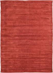 Kelim Chenille - Coppery_ Teppe 160X230 Ekte Orientalsk Håndvevd Rust/Mørk Rød ( India)