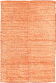 Kilim Chenille - Peach Orange Rug 3′11″x5′11″ Authentic  Oriental Handwoven Light Pink/Dark Beige/Orange ( India)