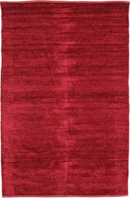 Kilim Chenille - Deep Red Rug 120X180 Authentic  Oriental Handwoven Crimson Red ( India)