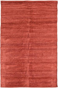 Kilim Chenille - Coppery_ Rug 120X180 Authentic  Oriental Handwoven Rust Red/Dark Red ( India)