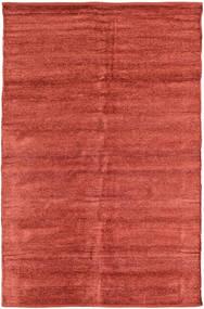Kelim Chenille - Coppery_ Matta 120X180 Äkta Orientalisk Handvävd Roströd/Mörkröd ( Indien)