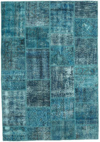 Patchwork Rug 159X231 Authentic  Modern Handknotted Dark Blue/Turquoise Blue (Wool, Turkey)