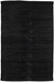 Kilim Chenille - Carbon Black Rug 120X180 Authentic  Oriental Handwoven Black ( India)