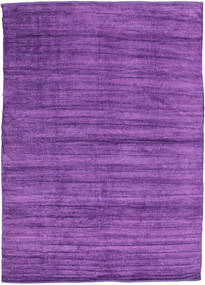 Kilim Chenille - Deep Purple Rug 210X290 Authentic  Oriental Handwoven Purple ( India)