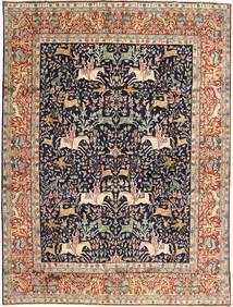 Kerman Rug 293X390 Authentic  Oriental Handknotted Brown/Dark Purple Large (Wool, Persia/Iran)