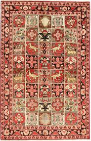 Sarough Teppich  127X205 Echter Orientalischer Handgeknüpfter Dunkelrot/Hellbraun (Wolle, Persien/Iran)