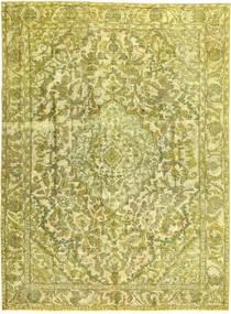 Colored Vintage Matta 245X338 Äkta Modern Handknuten Gul/Olivgrön (Ull, Persien/Iran)