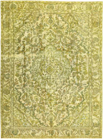 Colored Vintage Vloerkleed 245X338 Echt Modern Handgeknoopt Geel/Olijfgroen (Wol, Perzië/Iran)