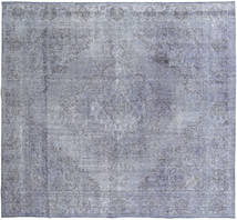 Colored Vintage Rug 269X295 Authentic  Modern Handknotted Square Light Grey/Light Blue Large (Wool, Persia/Iran)