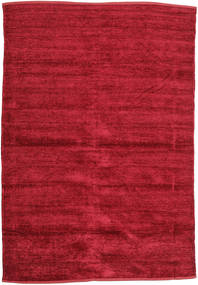 Kilim Chenille - Deep Red Rug 140X200 Authentic  Oriental Handwoven Crimson Red ( India)