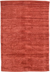 Kilim Chenille - Coppery_ Rug 140X200 Authentic  Oriental Handwoven Rust Red/Dark Red ( India)