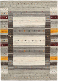 Loribaf Loom Designer Rug 160X230 Authentic  Modern Handknotted Light Grey/Dark Grey (Wool, India)