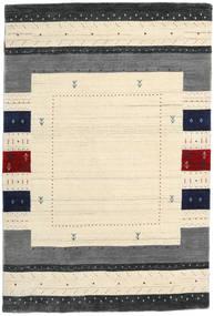Loribaf Loom Designer Dywan 120X180 Nowoczesny Tkany Ręcznie Beżowy/Ciemnoszary (Wełna, Indie)