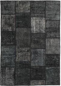 Patchwork Teppich  159X230 Echter Moderner Handgeknüpfter Schwartz/Dunkelgrau (Wolle, Türkei)