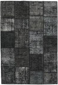 Patchwork Tapis 159X231 Moderne Fait Main Noir/Gris Foncé (Laine, Turquie)