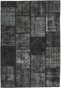 Patchwork Rug 159X232 Authentic Modern Handknotted Dark Grey/Black (Wool, Turkey)