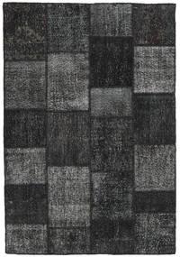 Patchwork Alfombra 159X231 Moderna Hecha A Mano Gris Oscuro/Negro (Lana, Turquía)