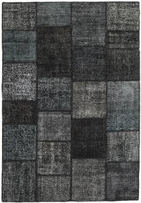 Patchwork Rug 158X231 Authentic  Modern Handknotted Black/Dark Blue (Wool, Turkey)
