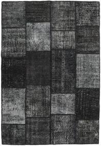 Patchwork Alfombra 158X231 Moderna Hecha A Mano Gris Oscuro/Negro (Lana, Turquía)