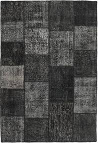 Patchwork Tapis 158X231 Moderne Fait Main Noir/Gris Foncé (Laine, Turquie)