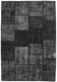 Patchwork Rug 157X231 Authentic  Modern Handknotted Dark Grey/Black (Wool, Turkey)