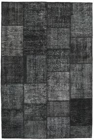 パッチワーク 絨毯 158X234 モダン 手織り 濃いグレー/水色 (ウール, トルコ)