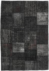 パッチワーク 絨毯 158X232 モダン 手織り 黒/濃いグレー (ウール, トルコ)
