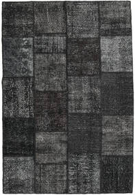 Patchwork Alfombra 158X233 Moderna Hecha A Mano Gris Oscuro/Verde Oscuro (Lana, Turquía)
