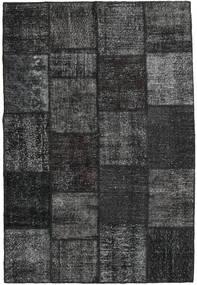 Patchwork Alfombra 158X233 Moderna Hecha A Mano Negro/Gris Oscuro (Lana, Turquía)