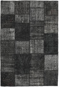 Patchwork Rug 158X233 Authentic  Modern Handknotted Dark Grey/Black (Wool, Turkey)