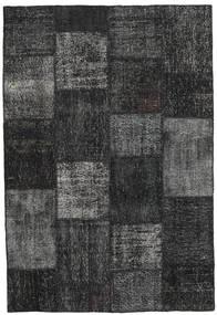 パッチワーク 絨毯 157X232 モダン 手織り 濃いグレー/黒 (ウール, トルコ)
