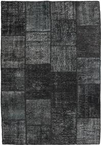 Patchwork Alfombra 157X233 Moderna Hecha A Mano Gris Oscuro/Azul Claro (Lana, Turquía)