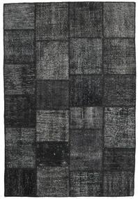Patchwork Covor 156X231 Modern Lucrat Manual Gri Închis/Negru (Lână, Turcia)