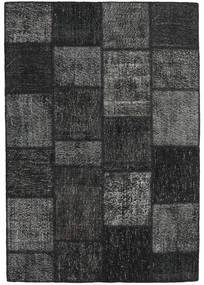 Patchwork Rug 160X231 Authentic  Modern Handknotted Dark Grey/Black (Wool, Turkey)