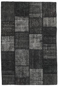 Patchwork Alfombra 156X232 Moderna Hecha A Mano Negro/Gris Oscuro (Lana, Turquía)