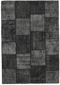Patchwork Alfombra 158X231 Moderna Hecha A Mano Negro/Gris Oscuro (Lana, Turquía)