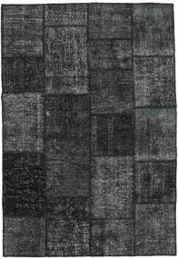 Patchwork Rug 158X230 Authentic  Modern Handknotted Dark Grey/Black (Wool, Turkey)
