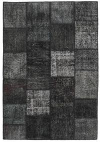 Patchwork Alfombra 158X234 Moderna Hecha A Mano Negro/Gris Oscuro (Lana, Turquía)